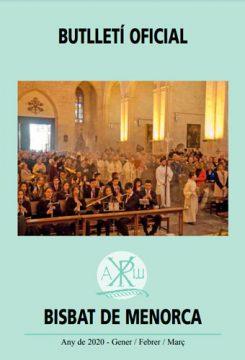 BUTLLETÍ DE LA DIÒCESI DE MENORCA  - 1er Trimestre